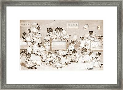 Cathouse Dormitory 1906 Framed Print by Padre Art