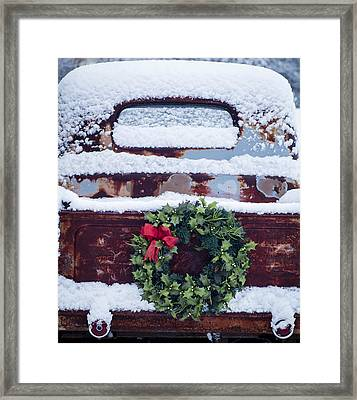 Cathy's Truck Framed Print by Wayne Meyer