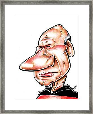 Catian Jean Luc Picard Framed Print