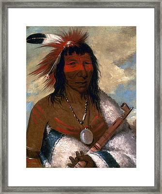 Catlin Sioux Chief, 1835 Framed Print by Granger