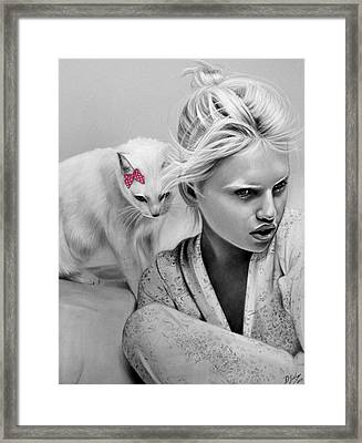 Catnap Framed Print by Danielle Fisher