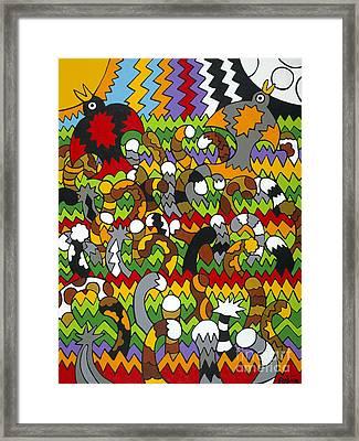 Catnip Framed Print by Rojax Art