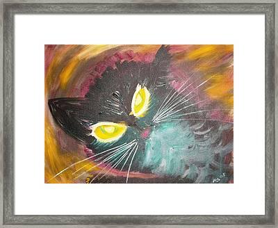 Catrem Framed Print by Leslie Byrne