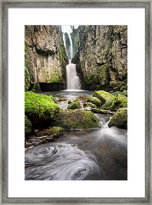 Catrigg Force Falls Framed Print by Chris Frost