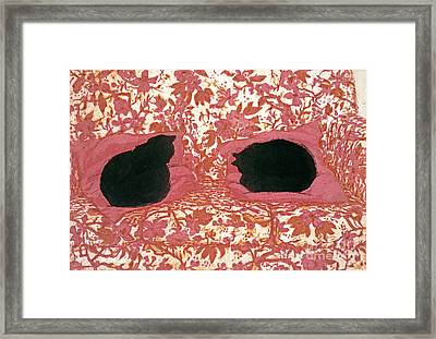 Cats Framed Print by Lucy Willis