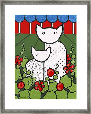 Cats 5 Framed Print by Trudie Canwood