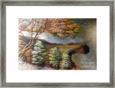 Cats Cliff Framed Print
