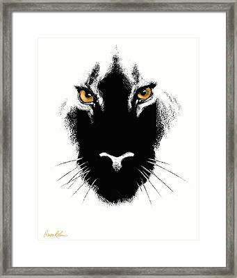 Framed Print featuring the digital art Cat's Eyes by Aaron Blaise