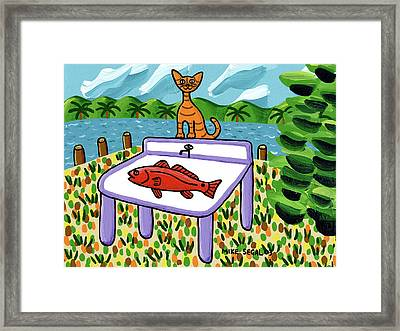 Cat's Fish - Cedar Key Framed Print