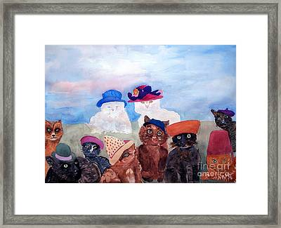 Cats In Hats Framed Print