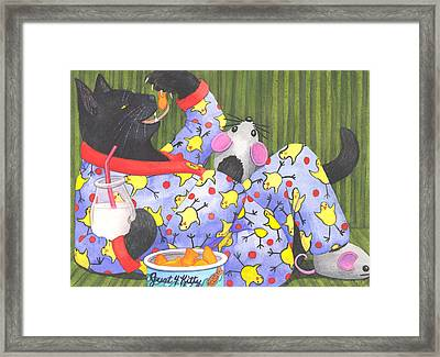 Cats Pajamas Framed Print by Catherine G McElroy