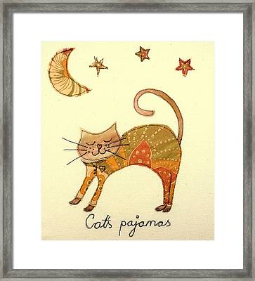 Cats Pajamas Framed Print