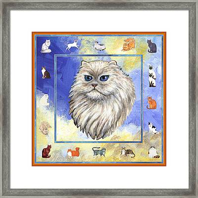 Cats Purrfection Four - Persian Framed Print by Linda Mears