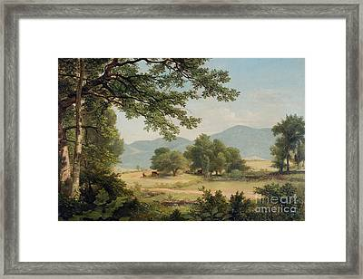 Catskill Meadows In Summer Framed Print by Asher Brown Durand