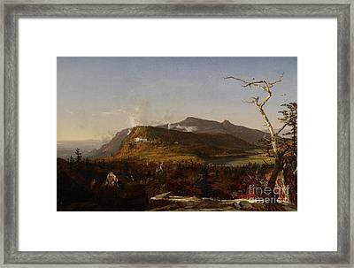 Catskill Mountain House Framed Print by Jasper Francis Cropsey