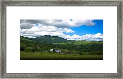 Catskill New York Farm Framed Print