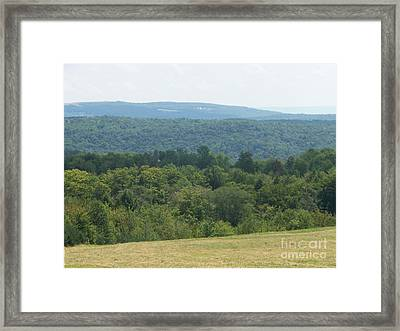 Catskill Rolling Hills Framed Print by Kevin Croitz