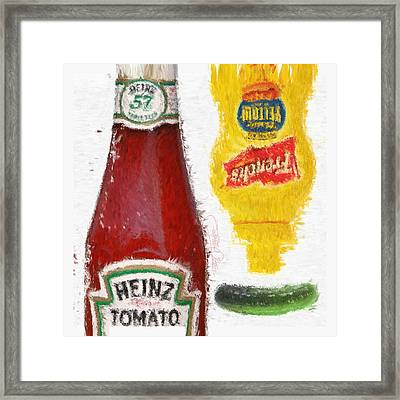 Catsup Pickle Mustard Framed Print