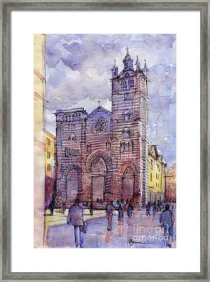 Cattedrale Di Genova Framed Print by Luca Massone