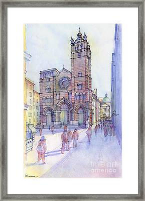 Cattedrale Di S. Lorenzo A Genova Framed Print by Luca Massone