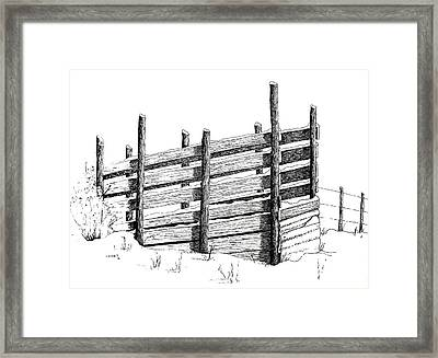 Framed Print featuring the painting Cattle Chute Ink by Richard Faulkner