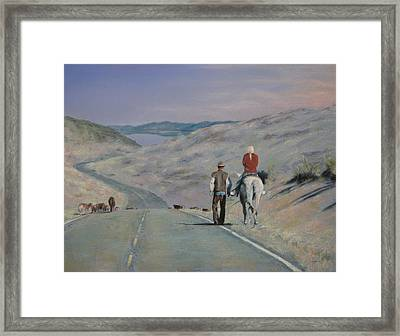 Cattle Drive Framed Print
