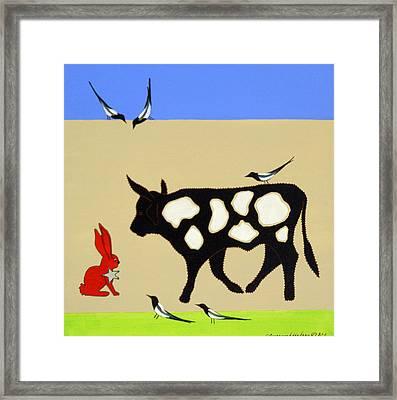 Cattle Guard Framed Print
