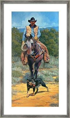 Cattle King Framed Print by Randy Follis