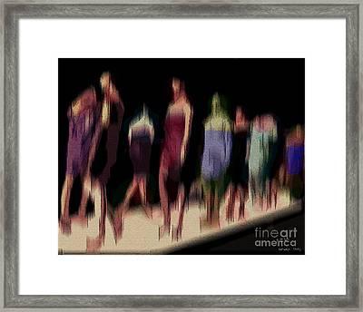 Catwalk Framed Print by Pedro L Gili