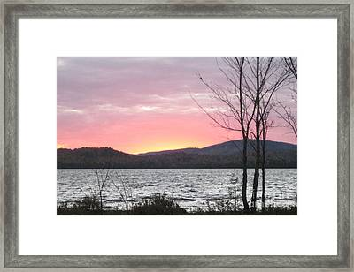 Caucomgomoc Lake Sunset In Maine Framed Print