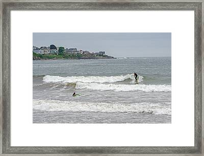 Caught A Wave Framed Print by Susan  McMenamin