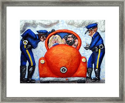 Caught Framed Print by Alison  Galvan