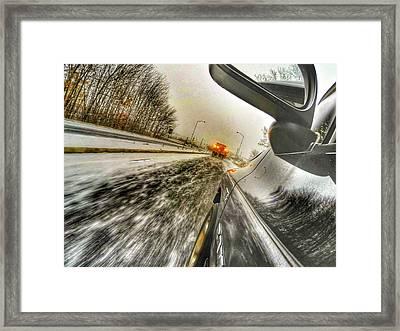 Caught Behind The Sander Framed Print by Erik Kaplan