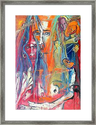 Caught Between Layers Of Dream And Memory Framed Print by Kenneth Agnello