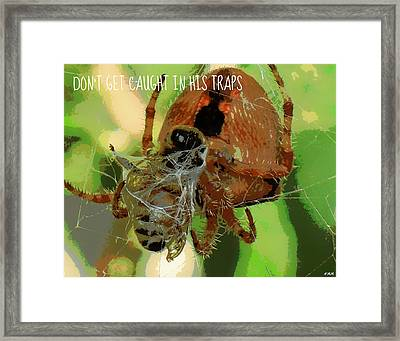 Caught Framed Print by Heidi Manly