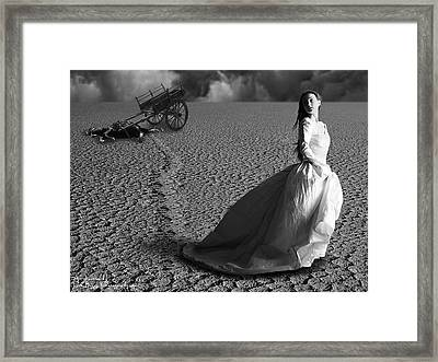 Caught In A Storm Framed Print by Rick Buggy