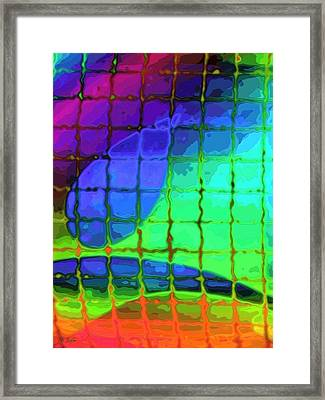 Caught In My Color Net On Venus Framed Print