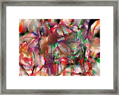 Caught In The Crowd Water Color And Pastel Framed Print by Sir Josef - Social Critic - ART