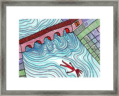 Caught In The Current Framed Print