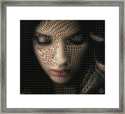 Caught In The Network Framed Print