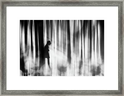 Caught In The Sorrow Framed Print