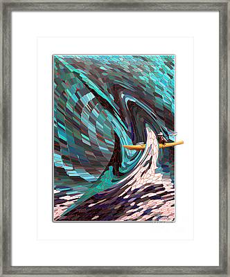 Caught In The Web Of Life Framed Print by Mariarosa Rockefeller