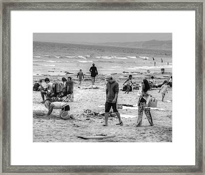 Caught Looking Framed Print