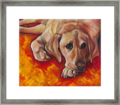 Caught Off Guard Framed Print by Eve  Wheeler