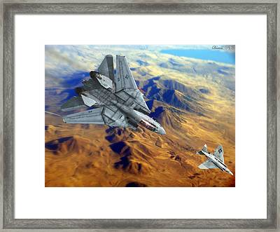 Caught On The Hop Framed Print