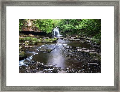 Cauldron Falls At West Burton Framed Print