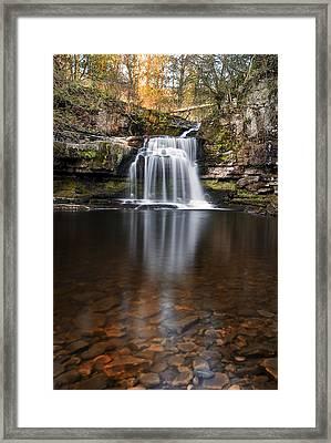 Cauldron Falls West Burton Framed Print