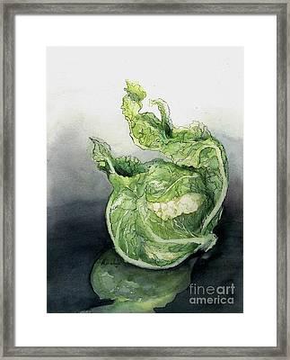 Cauliflower In Reflection Framed Print
