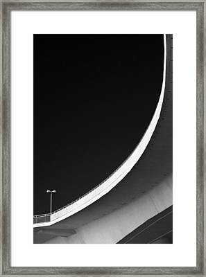 Causeway Arc Clearwater Florida Black And White Framed Print
