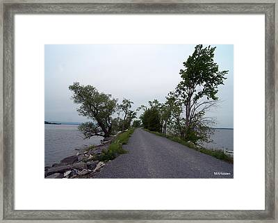 Causeway Between Mills Point And South Hero Vermont Framed Print by Mark Holden